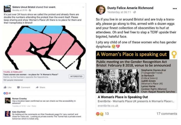 Transativistas ameaçam impedir encontro de mulheres.