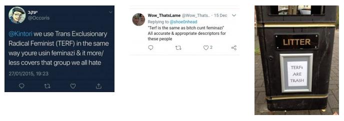 Ofensas e ameaças de transativistas direcionadas a mulheres que questionam suas ideias.